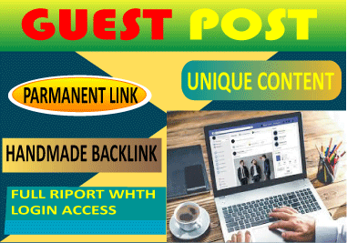 I will write 10 guest post and publish 10 niche on high authority sites