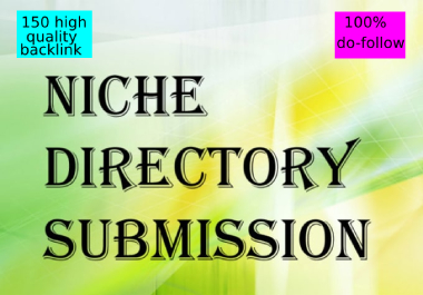 I will do 150 niche directories submissions manually
