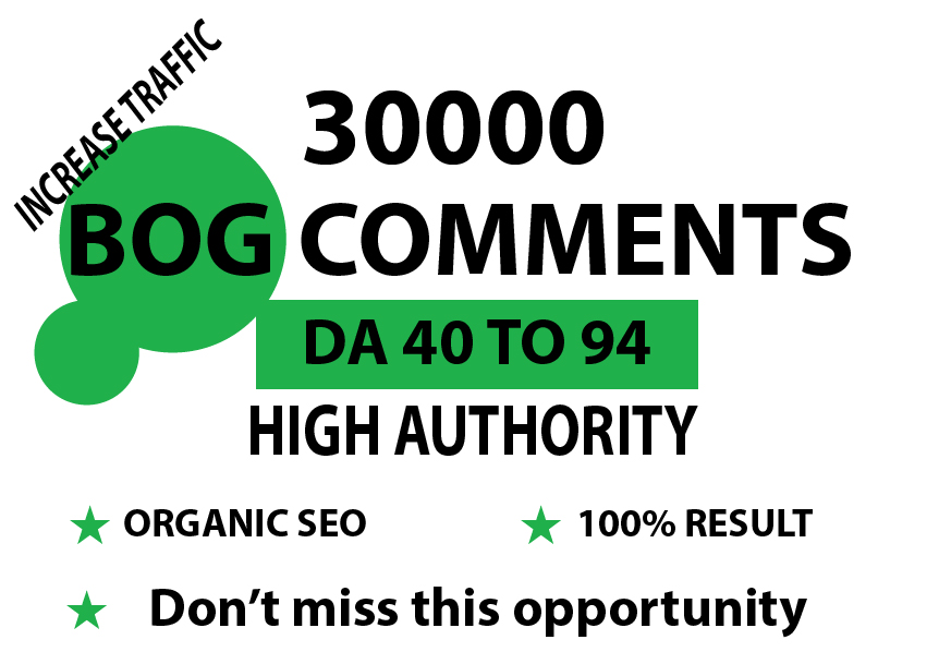 I will do 30000 blog comments with SEO backlinks for your higher ranking