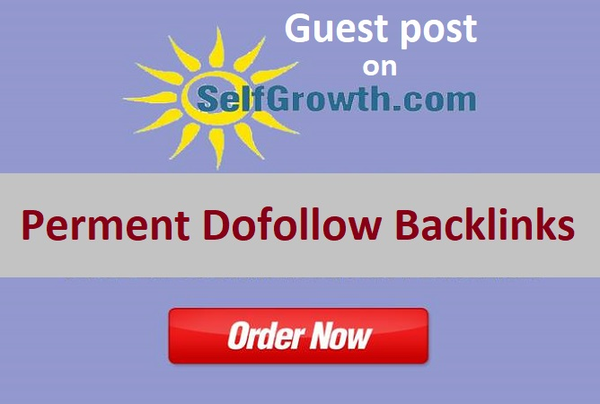 I will publish high da guest post on selfgrowth. com with dofollow backlinks