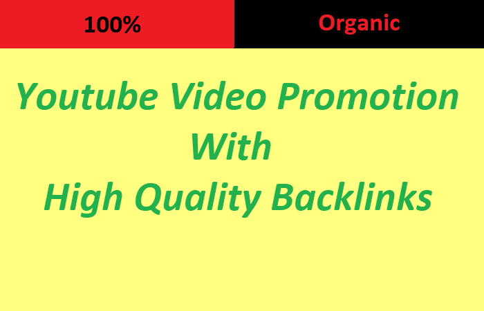 I will do organic Youtube Video Promotion with 1 million high quality GSA backlinks