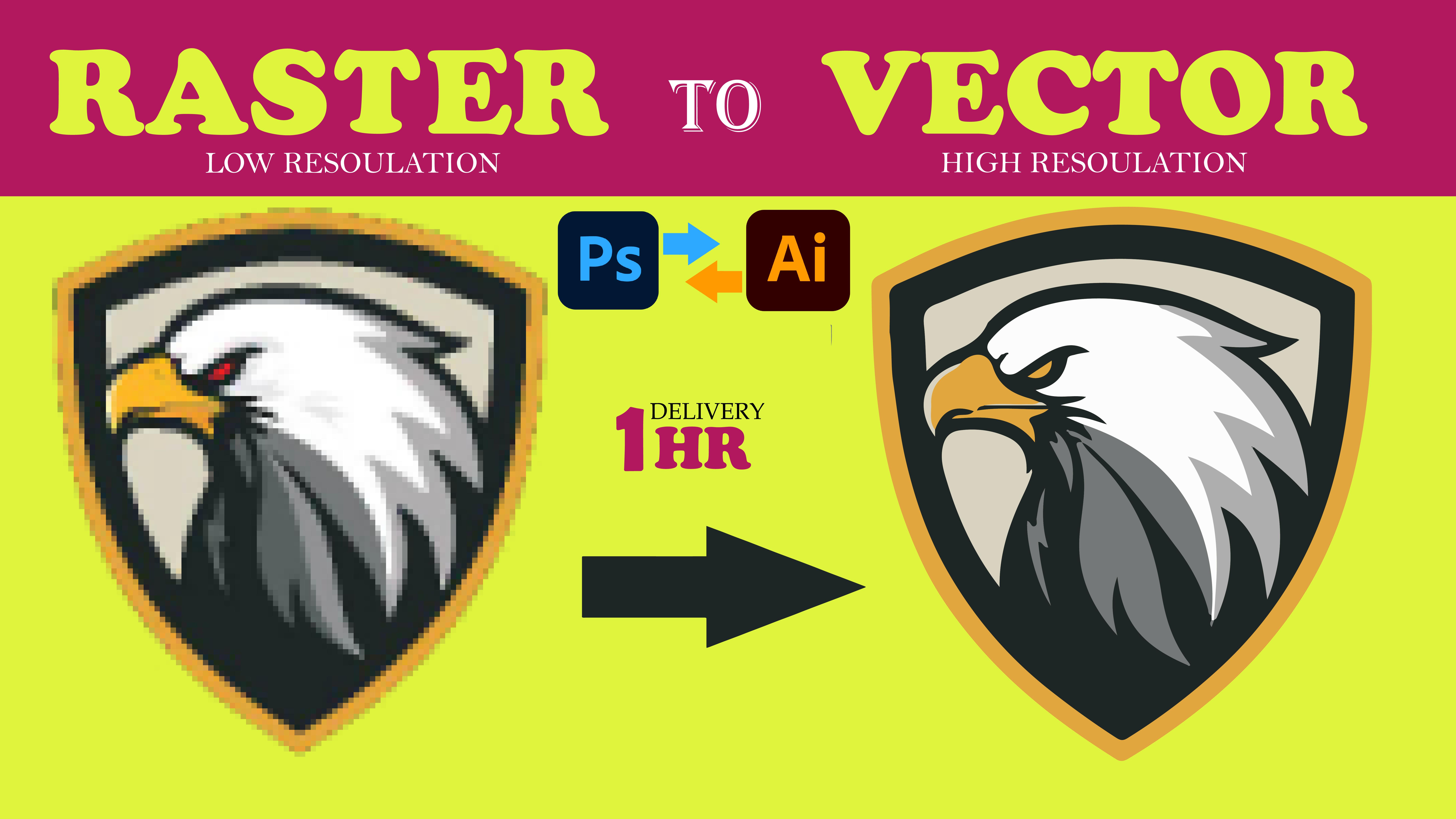 I will do I will do vector tracing redo repair modify edit fix