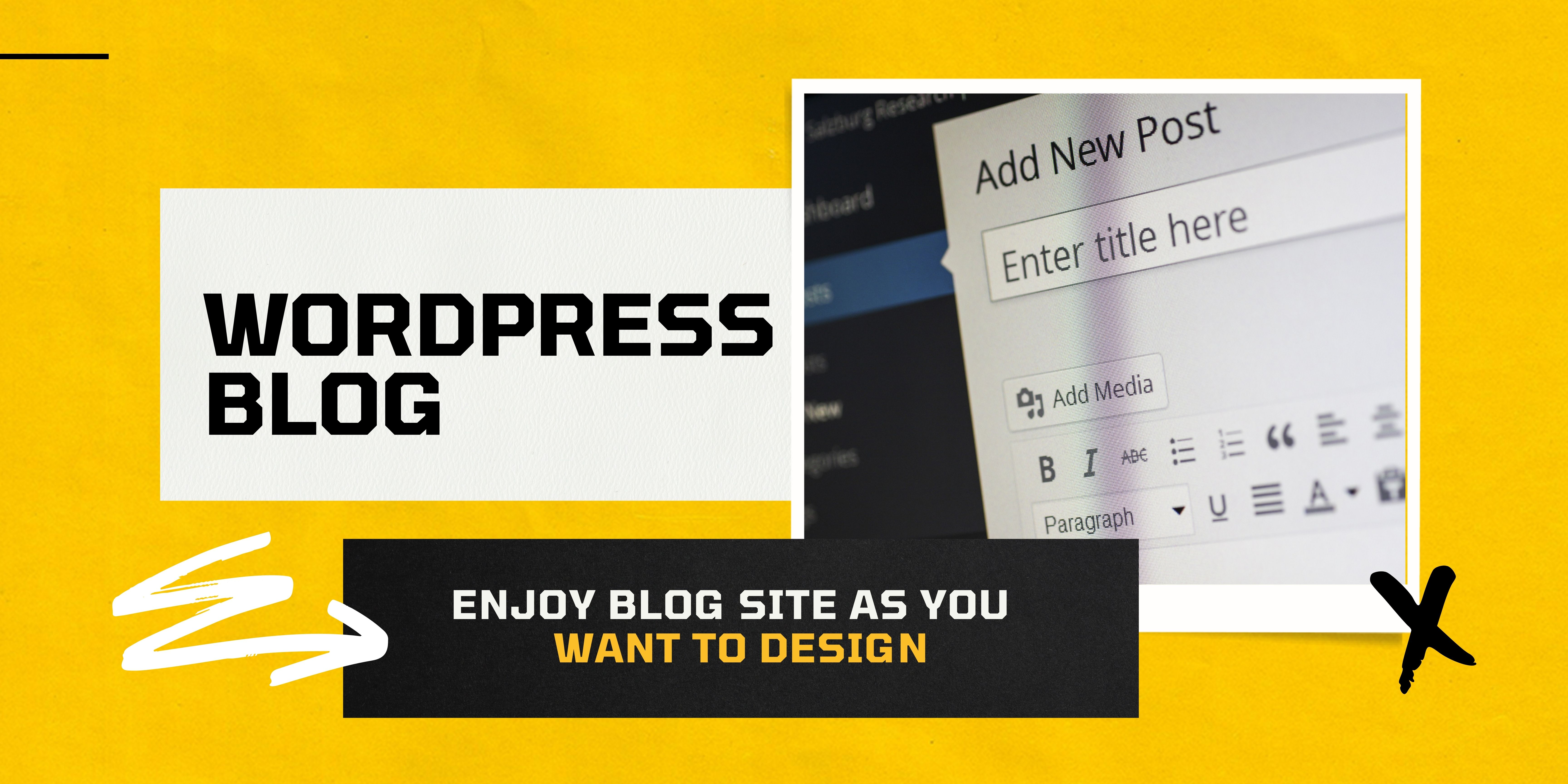 I will make your blog site in wordpress