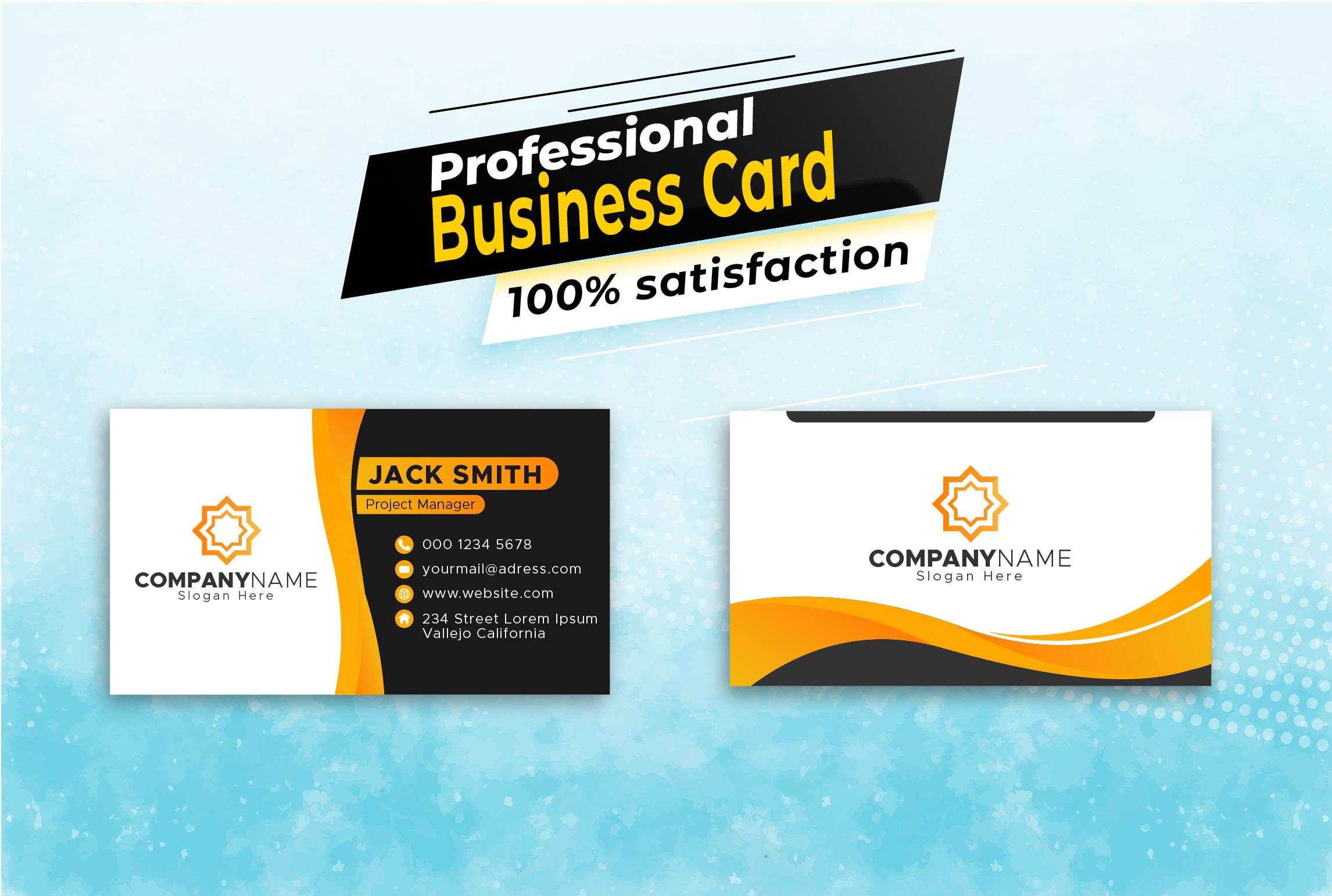 I will provide business card design service