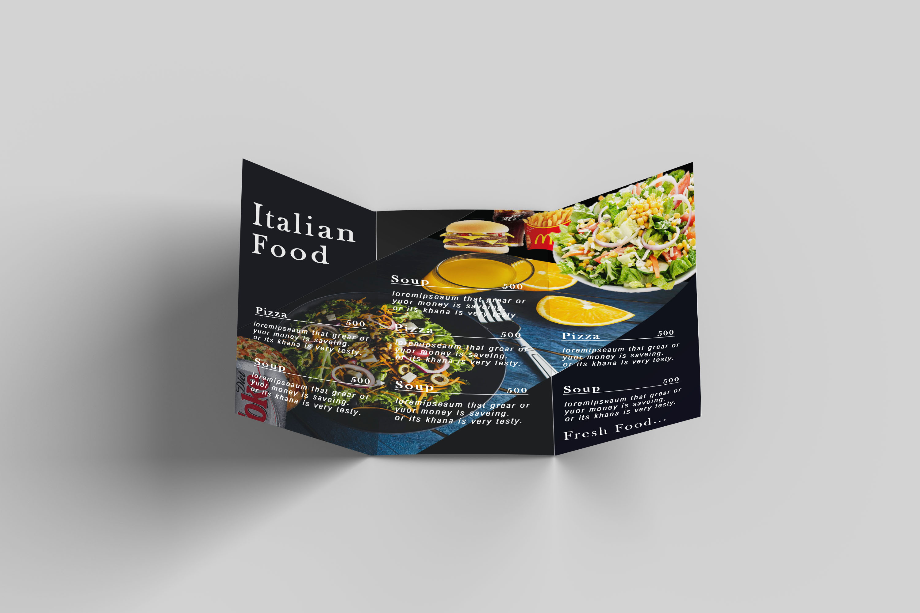 I will design a professional Restaurant brochure for you