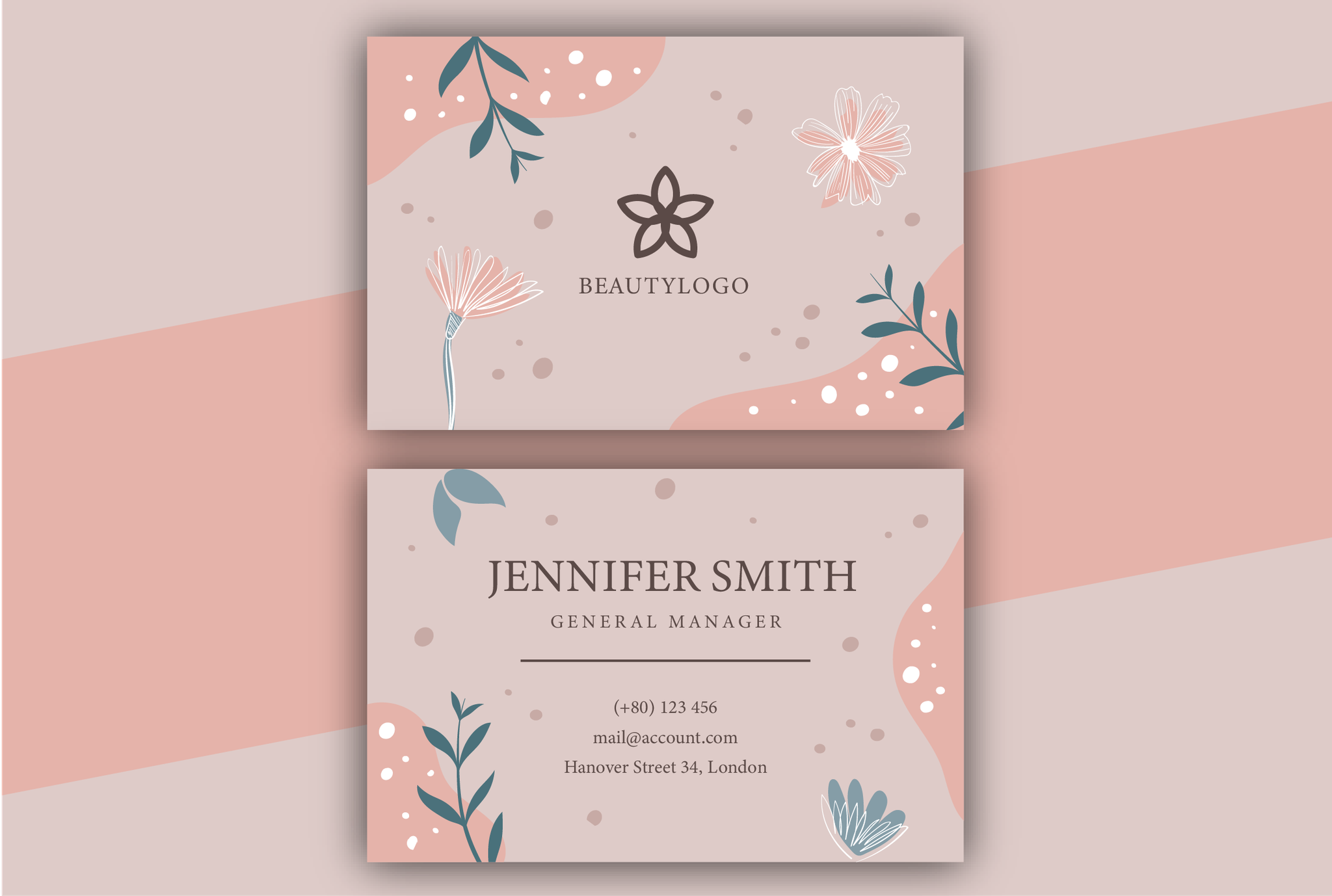create beautiful business cards for website
