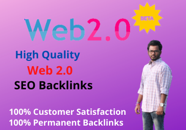 I will Create 10 high quality manual Web 2.0 Profile backlinks