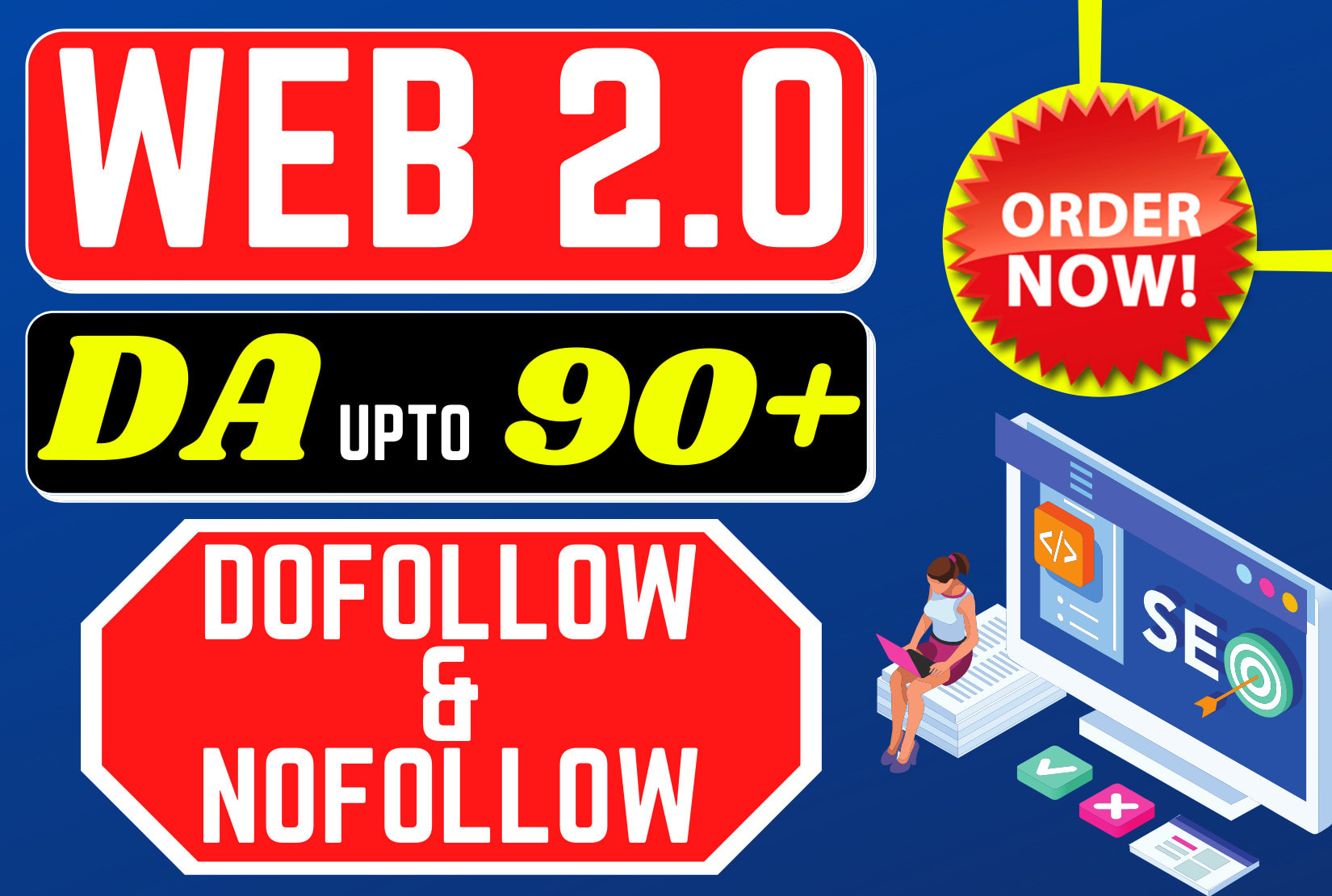 I will give 40+high authority web 2 0 backlinks