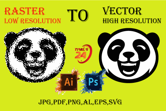 I will manual vector tracing,  convert raster to vector,  any image profession