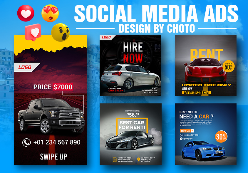 I will design creative social media posts for your Insta and Facebook