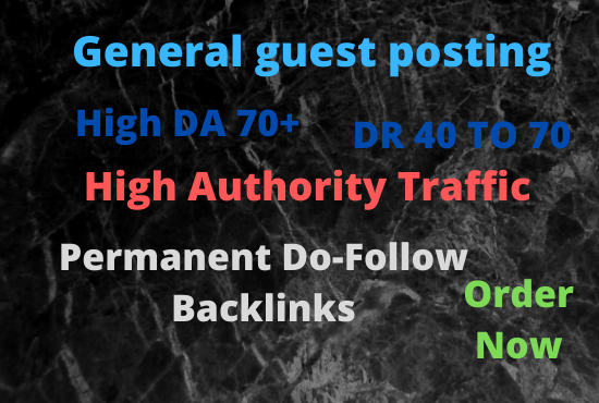 I will do guest posts on da50 general blog