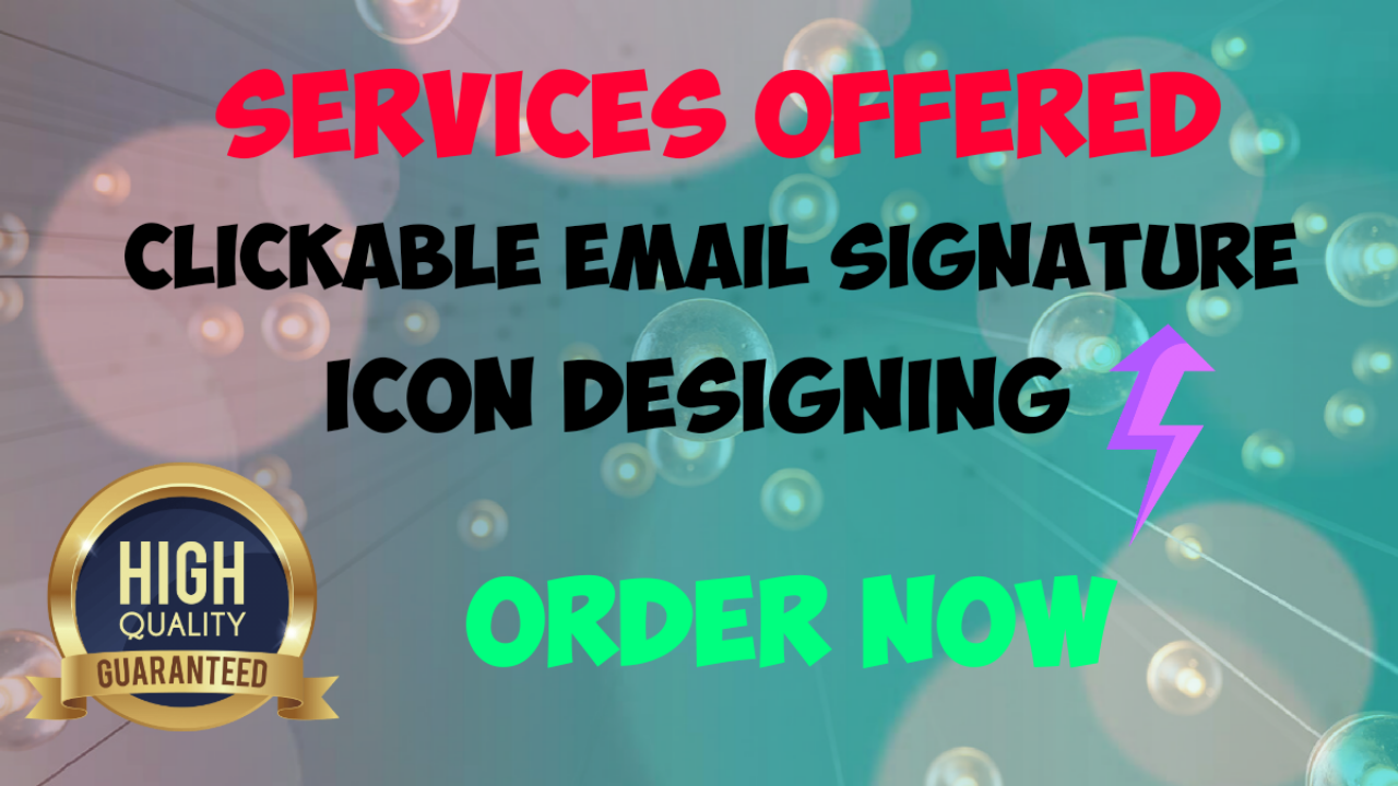 Clickable Email Signature and Icon Designing