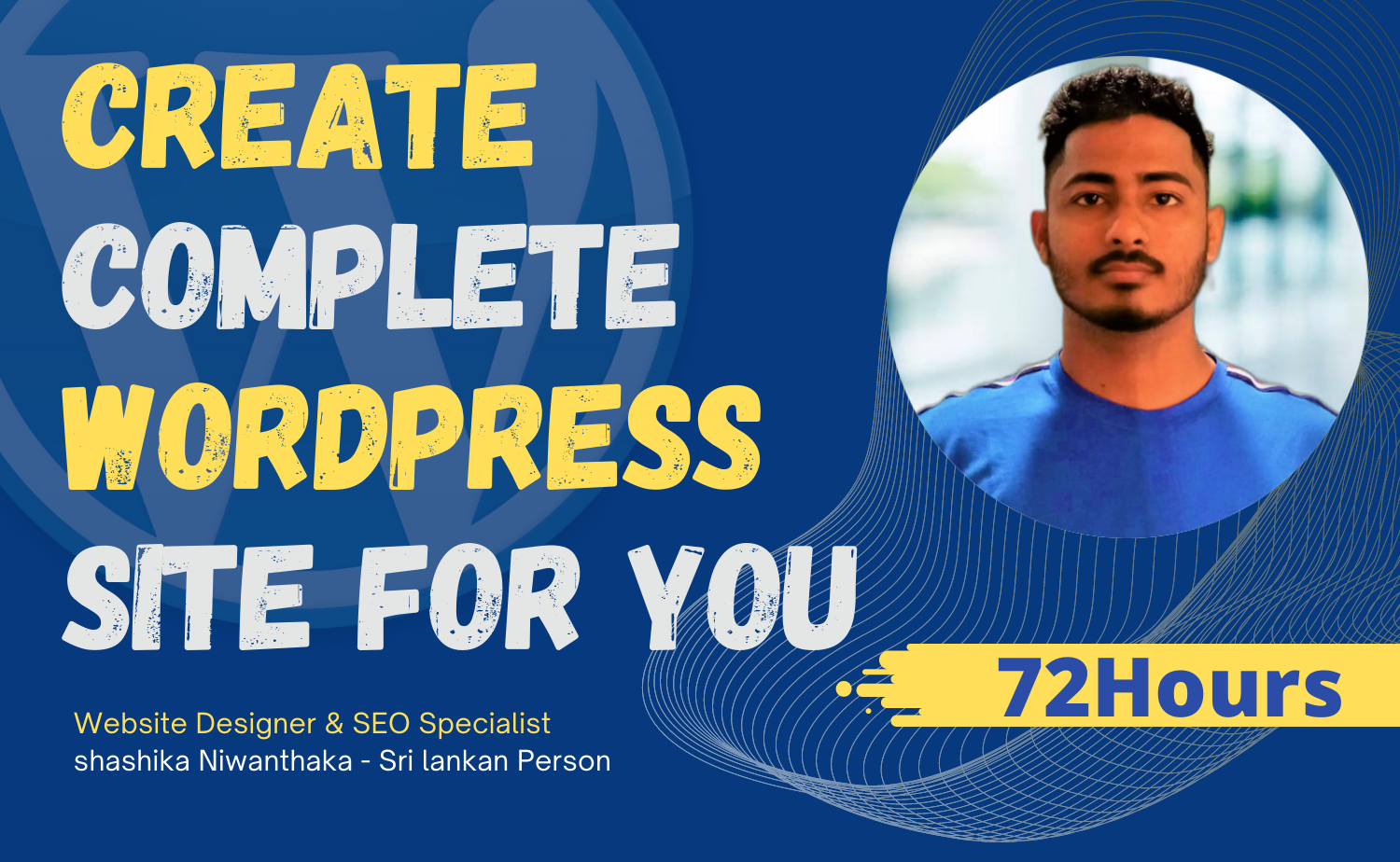 Create A to Z complete wordpress website
