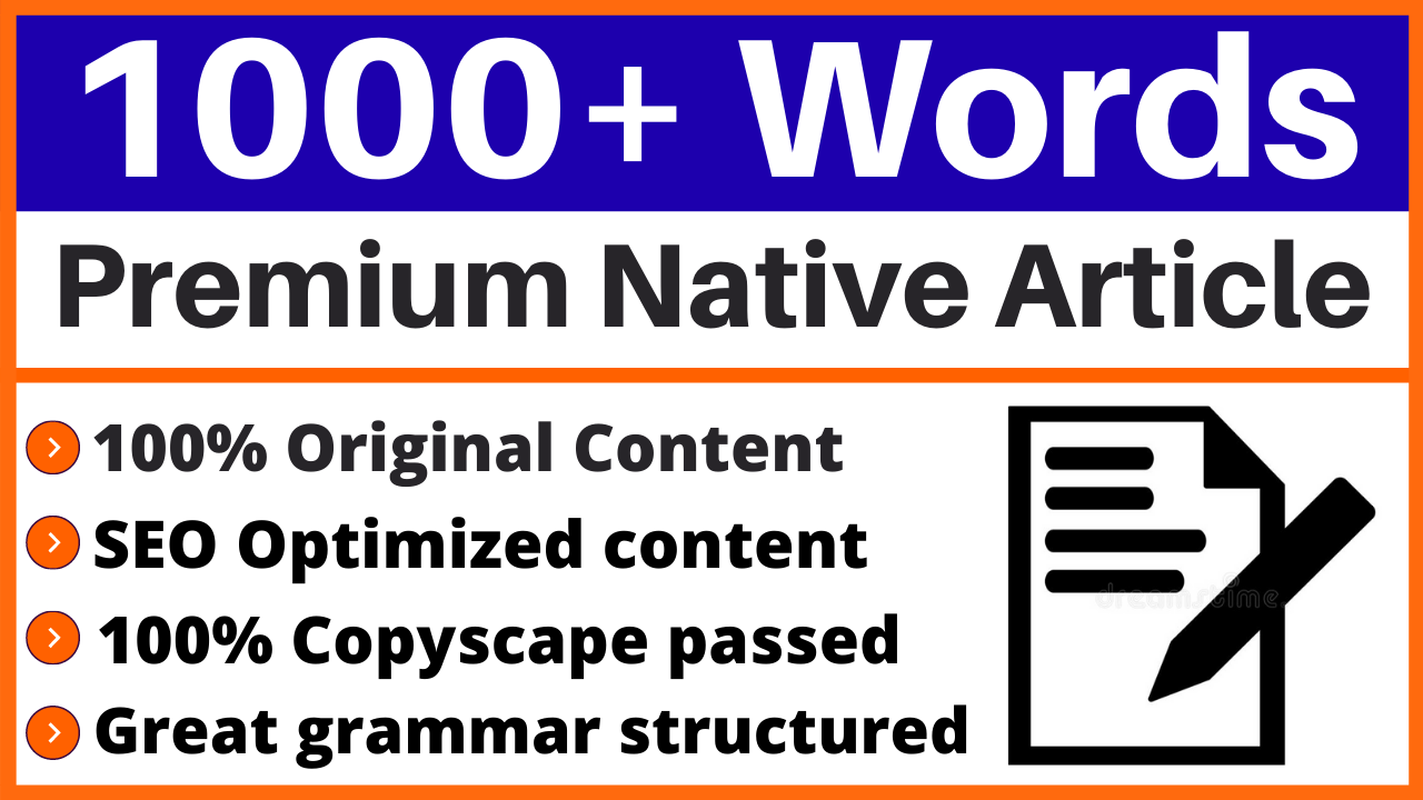 I will write 1000 word SEO article for your business,  financial,  lifestyle, fashion Website or blog