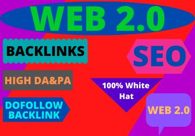 80 WEB 2.0 High Authority Permanent Contextual high da Backlinks White Hat SEO Link Building