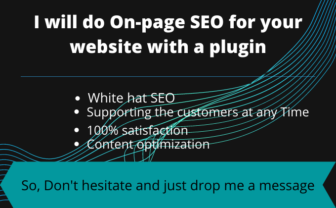 I will do onpage SEO for your website with plugin