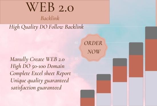 I will create web2.0 backlinks off-page seo