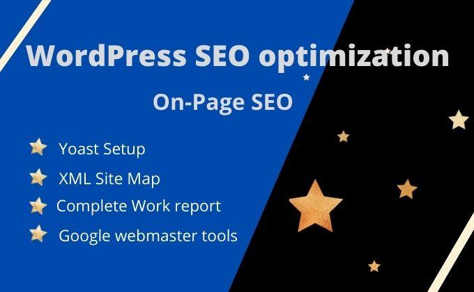 I will do on-page SEO optimization service of WordPress website