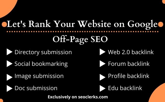 I will provide complete monthly off page SEO package