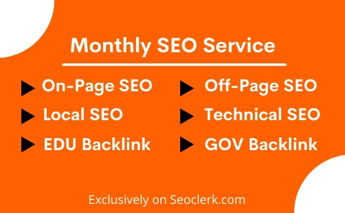 I Will do Monthly On-Page,  Off-Page SEO Service for Google Top Ranking