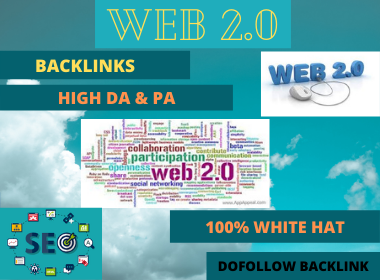 WEB 2.0 80 High Authority Permanent Contextual Backlinks White Hat SEO Link Building