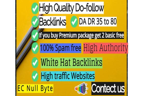 I'll create optimal high da white hat dofollow SEO backlinks