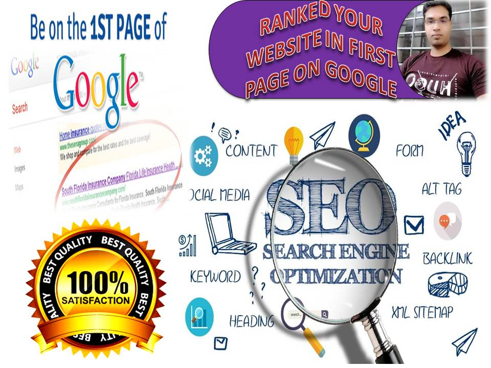 Rank your Website Google 1st Page with On Page and Off Page SEO