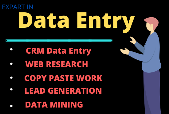 Perfect data entry and copy paste web research