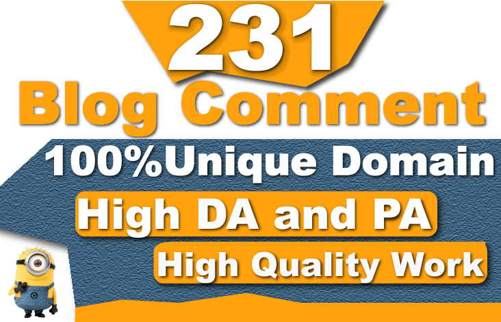 I will create 231 unique domain dofollow blog comment high authority backlinks
