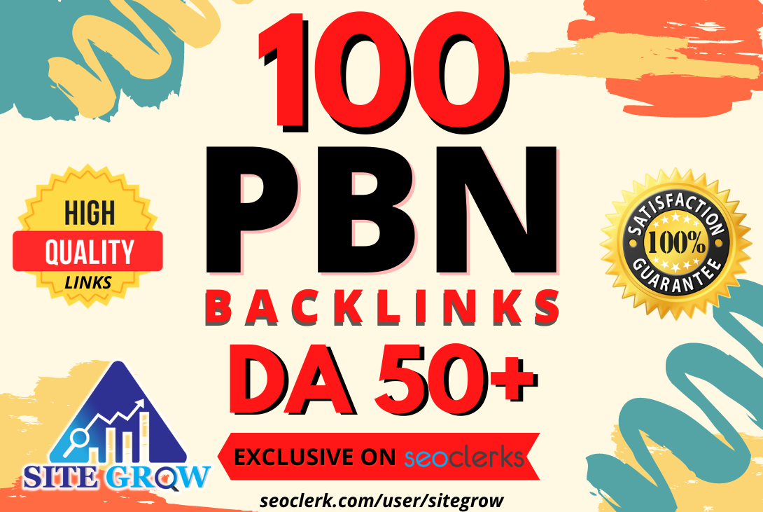 I will build 100 Homepage PBN Backlinks DA50+ to boost your websites