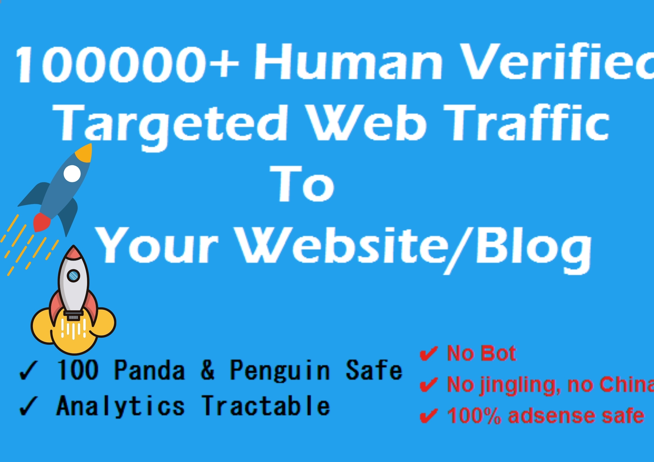 100000+ Traffic For Your Website Organic,  Social From USA, CANADA, UK