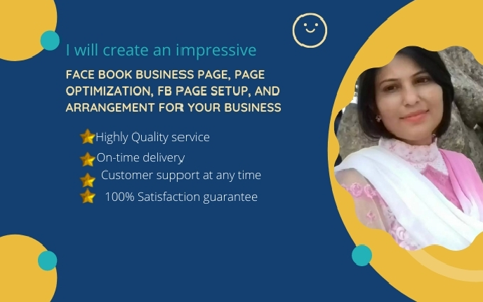 I will create an impressive facebook business page,  page creation & fb page setup for your business