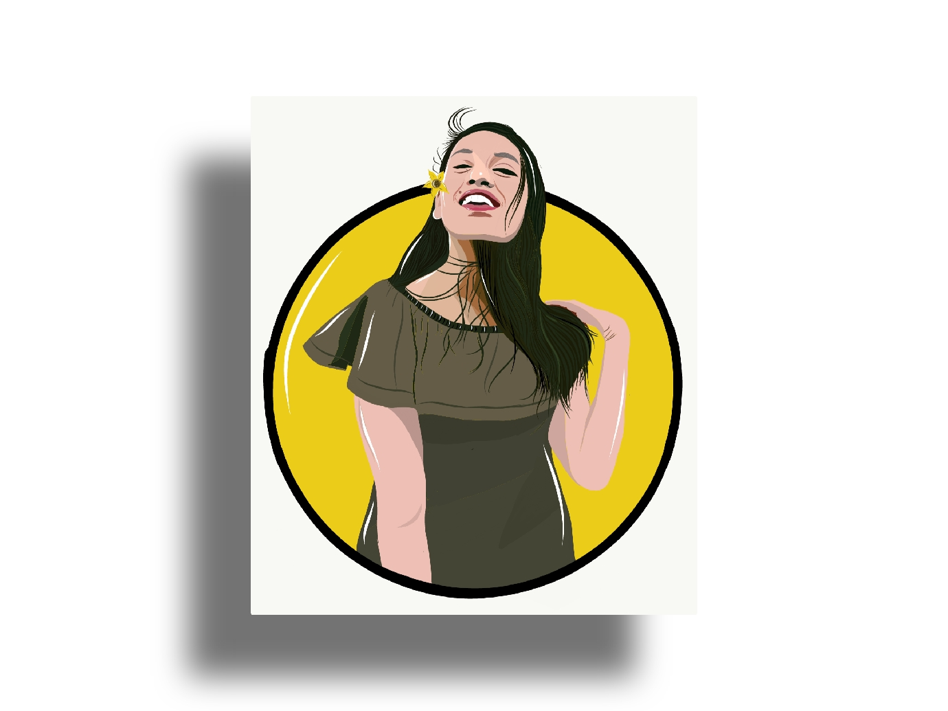 I will draw artistic vector portrait illustration from your photo