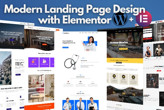 I will Design Modern Landing Page with Elementor