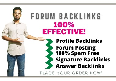 150+ Complete Forum Backlinks Includes Profile-Signature-Posting From High Authority Websites