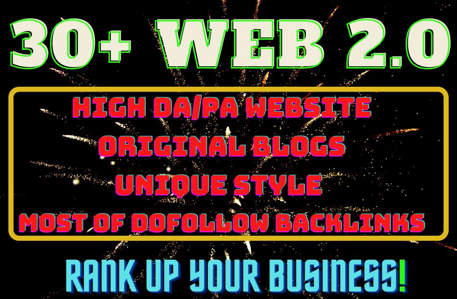 I will create web 2.0 backlinks,  High Quality web 2.0 on your keywords.