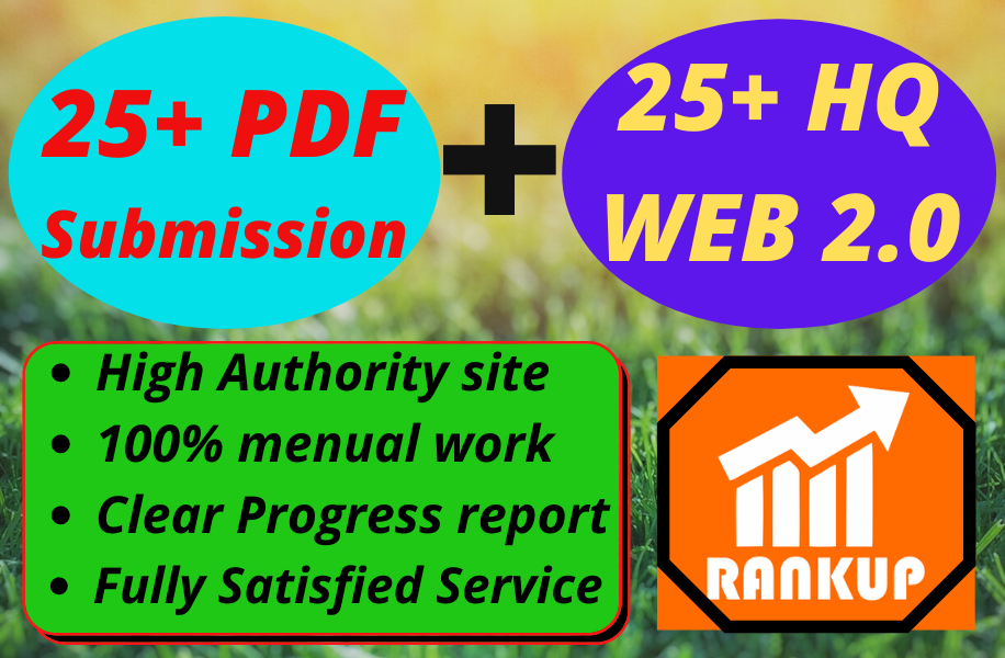I will provide 25 HQ Web 2.0 with 25 PDF submission package.
