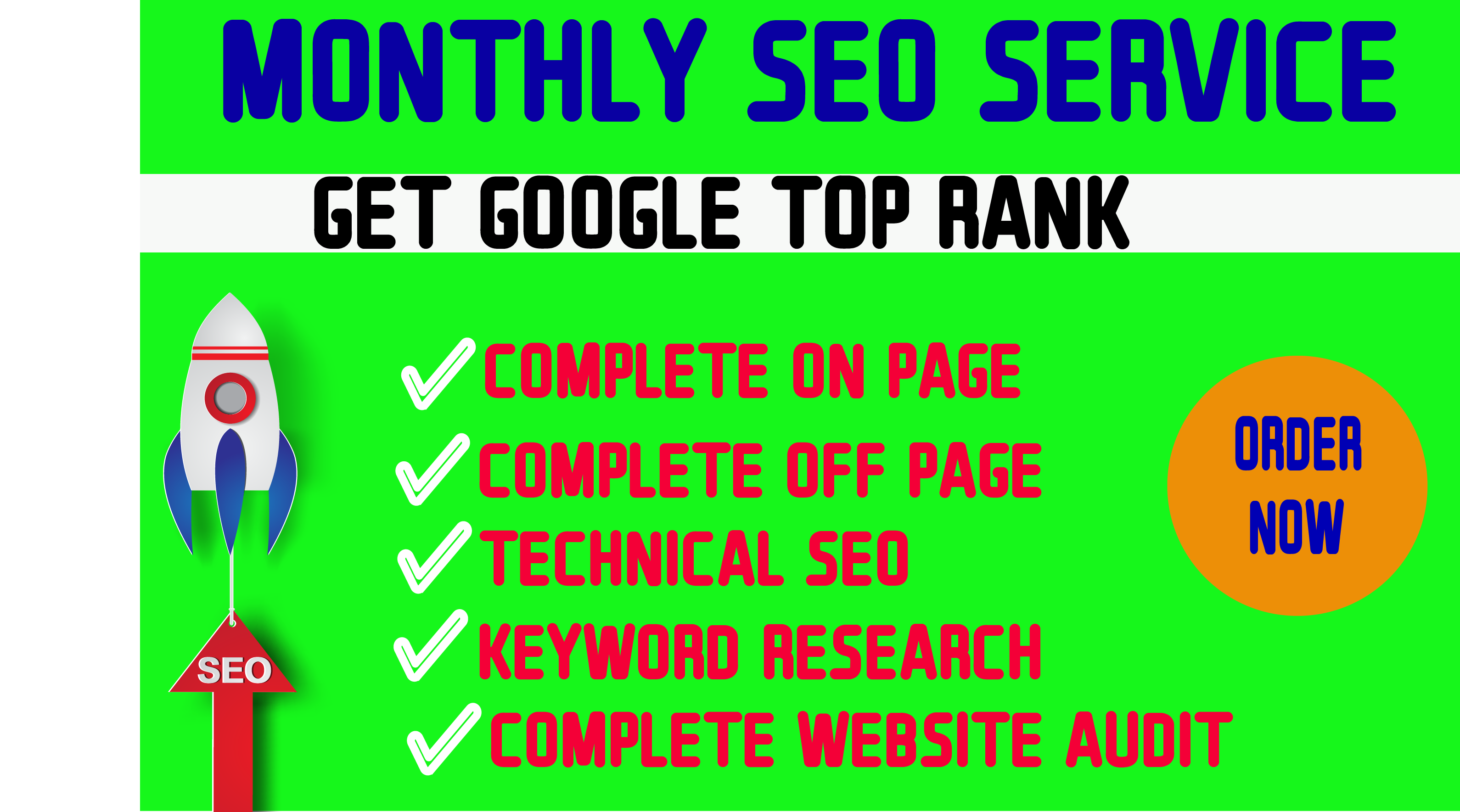 I will do monthly seo service to rank your website