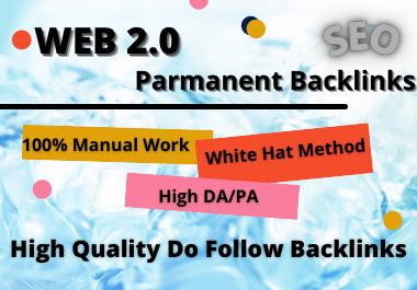 I will create 80 Web 2.0 High Authority Dofollow pure Backlinks
