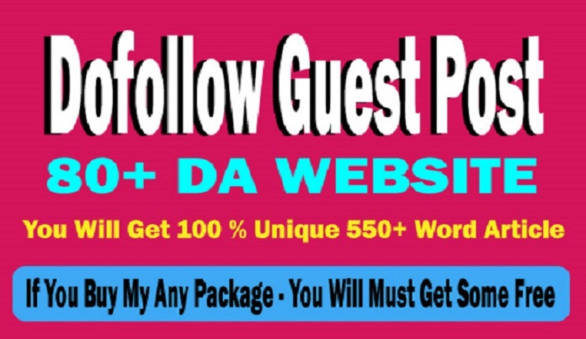I will write and publish 3 dofollow guest post on 80 plus da website