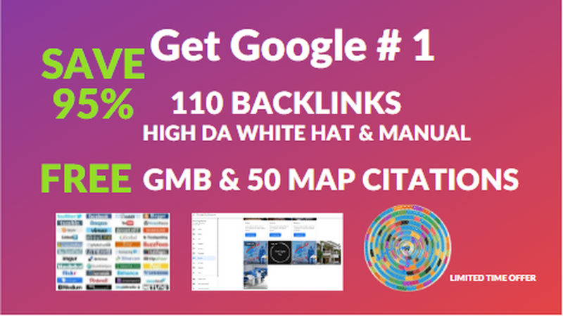 I will Provide 110 SEO backlinks with high DA white-hat and no spam