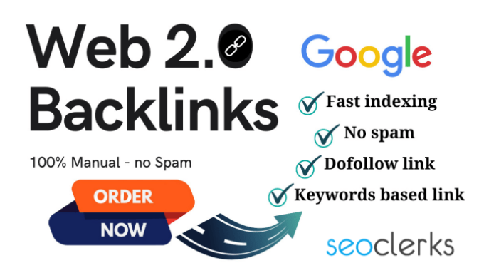 I will create manually web 2 0 backlink for your website