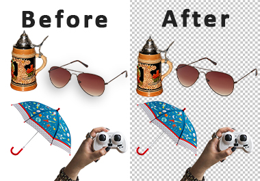 I will remove the background of any 15 product images in 18 hours.