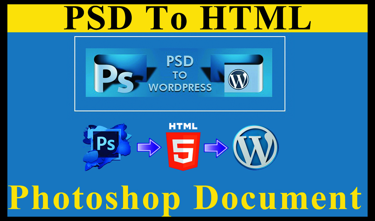 I will do convert psd to html with responsive bootstrap 4,  5