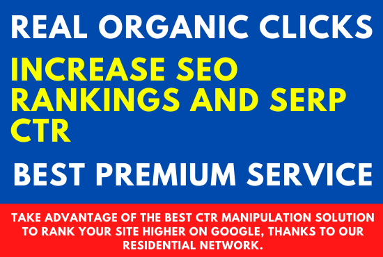 I will increase the ctr of your keywords in google real organics clicks