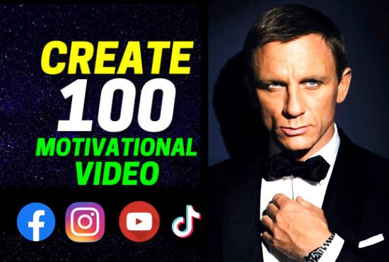 I will provide motivational videos,  fitness videos for youtube, instagram, websites, blogs