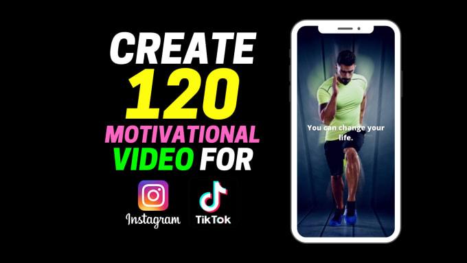 I will create motivational video for tiktok,  instagram,  youtube