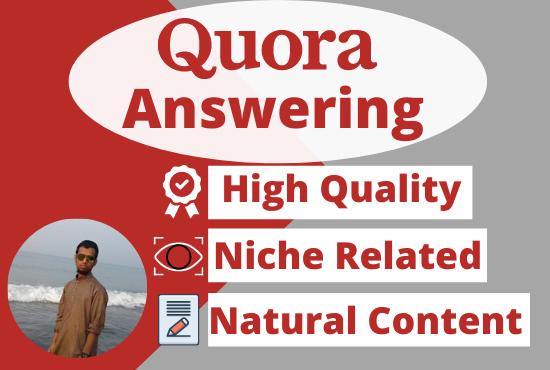 15 Quora Answers with researchable niche related keywords