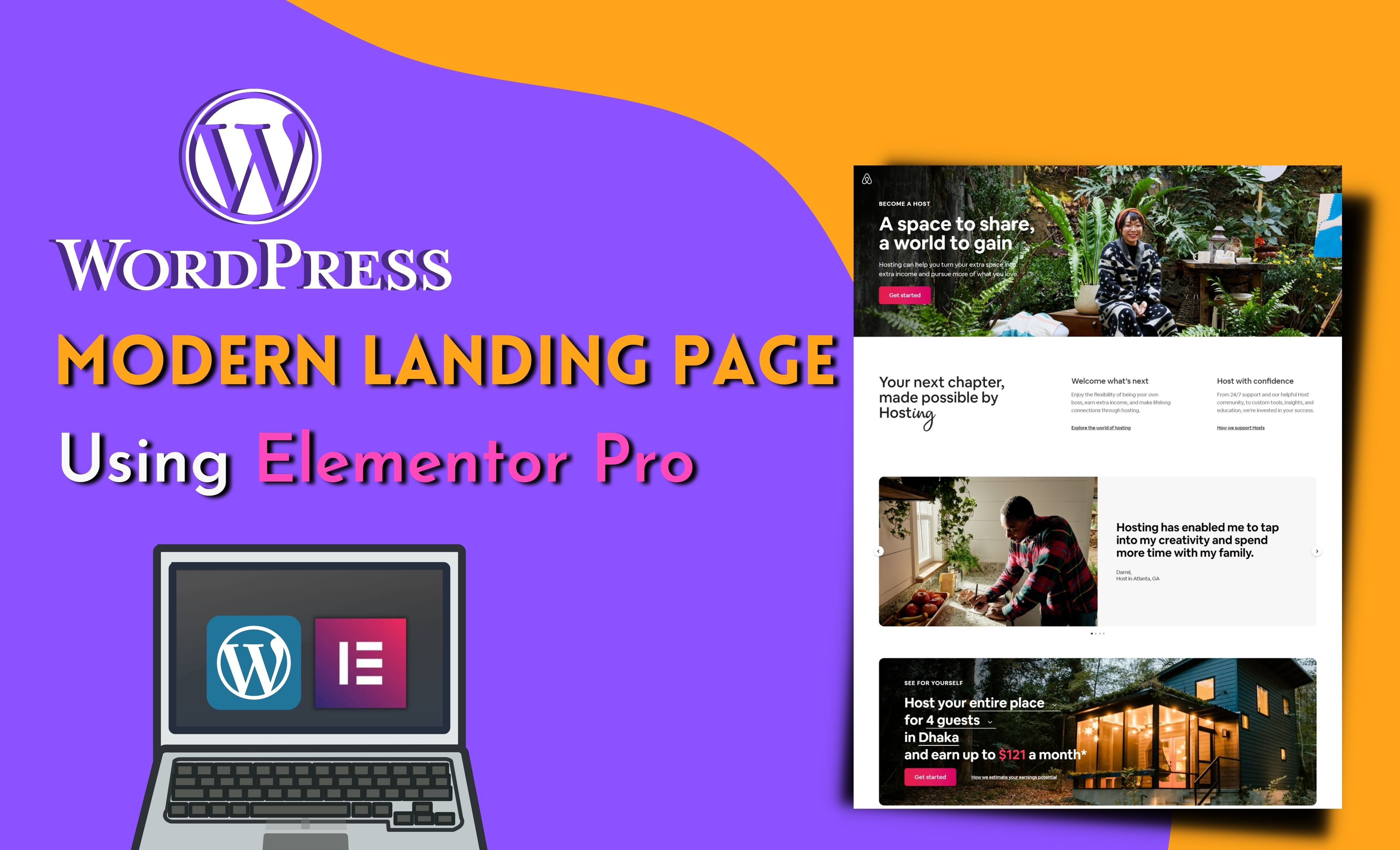 I will Design responsive WordPress Landing Page or One Page Website