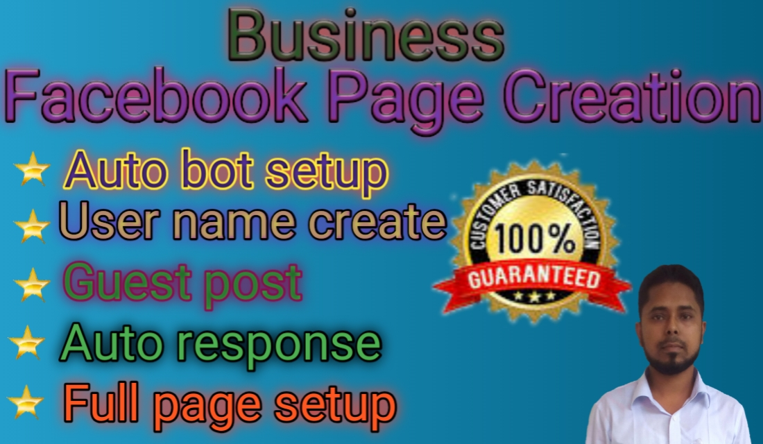 I will do Facebook page creation and FB business page design professionally.